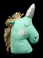 Unicorn Doorstop turquoise