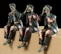 Zombie Shelf Sitter - Set of 3