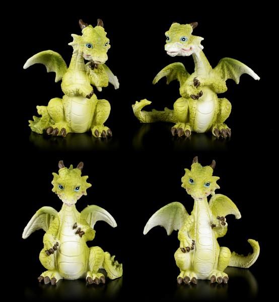 Green Dragon Figurines - Set of 4
