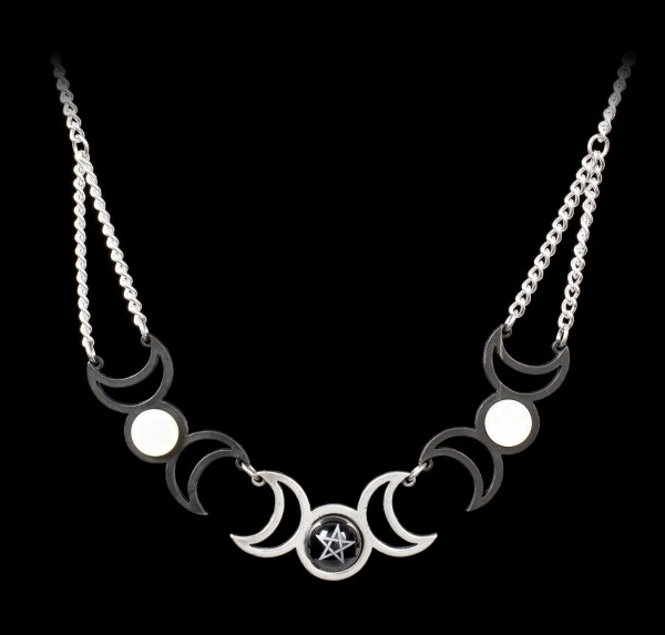 Alchemy Wiccan Necklace - Tres Lunae