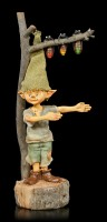 Pixie Kobold Figur mit Glühwürmchen Ampel