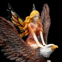 Fairy Figurine - Silra rides on Eagle