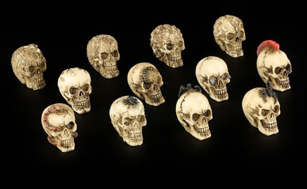 Skulls small - Set of 12