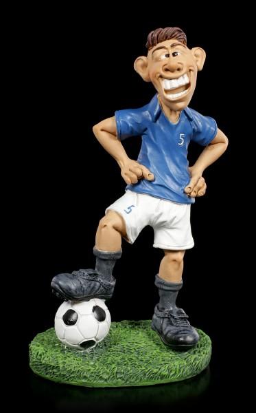 Funny Sports Figurine - Footballer in blue Jersey