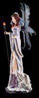 Große Elfen Figur - Dragoness mit Drachen