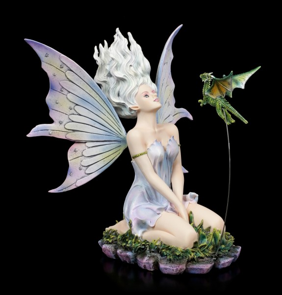 Fairy Figurine - Velda kneeling with Dragon