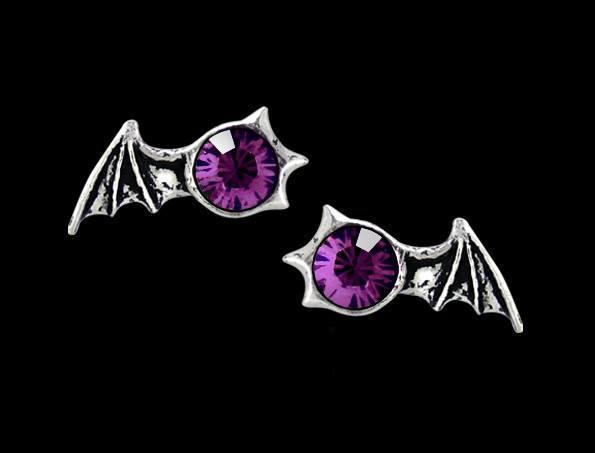 Alchemy Gothic Fledermaus Ohrringe - Matins