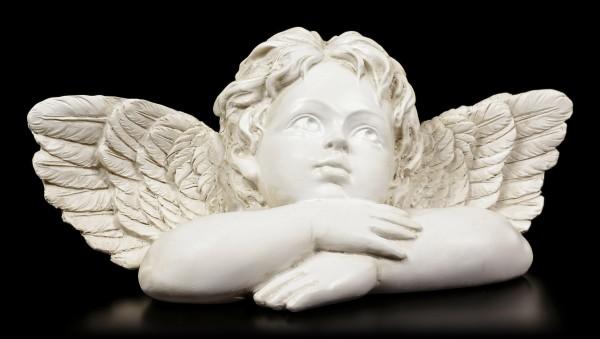 Engel Figur Cherub - In Gedanken vertieft