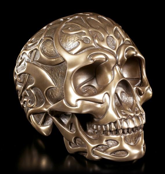 Tribal Skull - bronziert