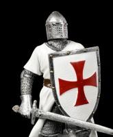 Deutsche Kreuzritter Figur mit Schild und Schwert