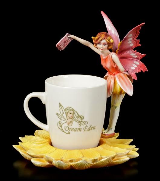 Elfen Figur mit Tasse - Red Fairy Rara
