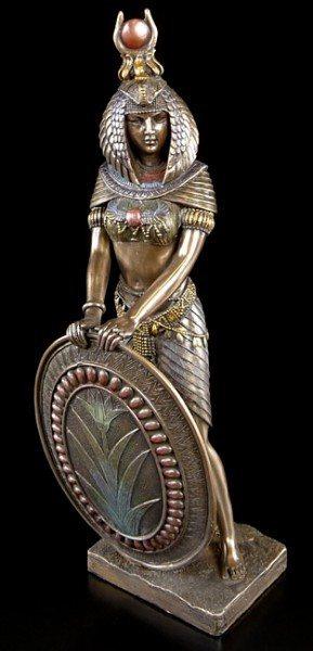 Isis Figur - Kriegerin bronziert