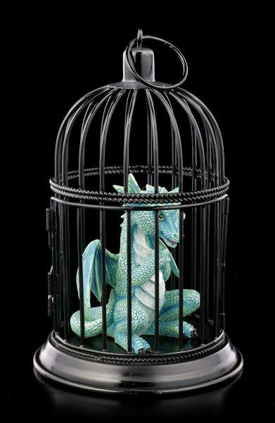 Drachen Figur im Käfig - Turquoise Pet