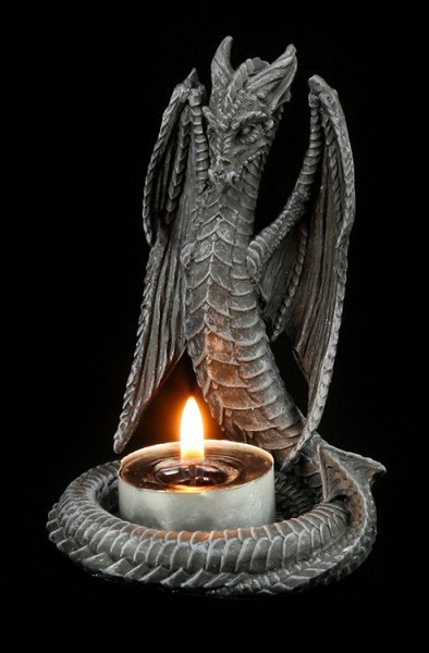 Tealight Holder Dragon-Snake with Wings