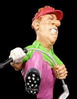 Golfspieler Figur zerbricht Schläger - Aaarrrg