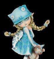 Elfen Figur mit Teddy - Blue Monday