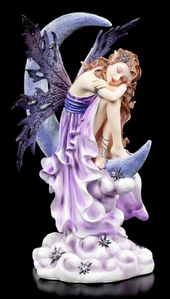 Elfen Figur schlafend auf Mond - Fairy Land