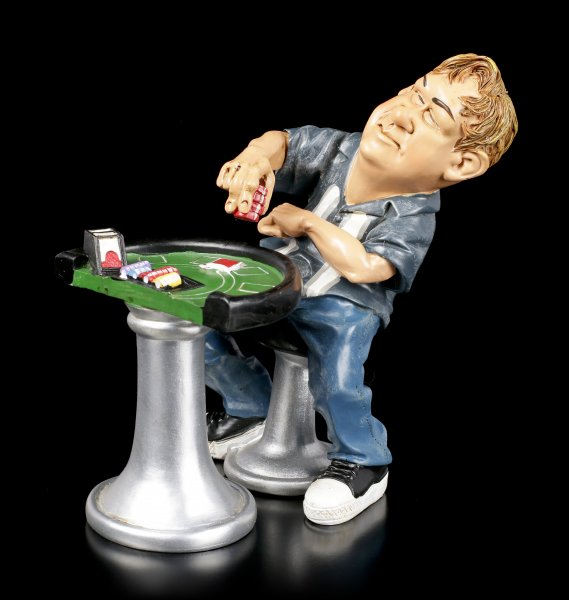 Funny Sports Figurine - Poker Player puts Chips