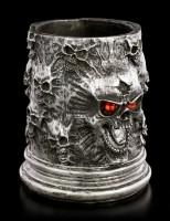 Skull Pen Holder - Red Eyes