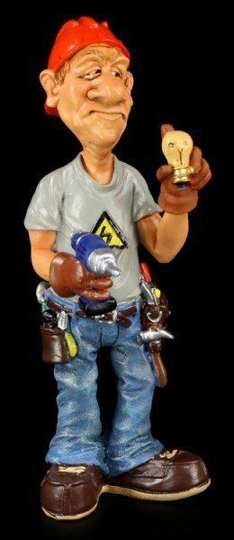 Electrician - Funny Job Figurine