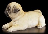 Gartenfigur Hund - Mops Welpe