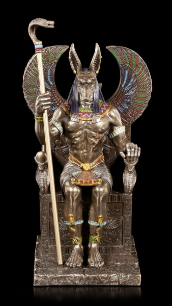 Anubis Figurine sitting on Throne