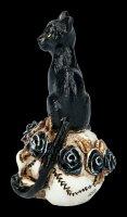 Alchemy Katze auf Schädel - klein