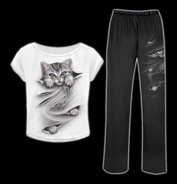 Pyjama Set 4 tlg. Fantasy mit Katze - Bright Eyes