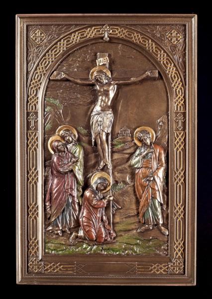 Wandrelief Ikone - Gekreuzigter Jesus