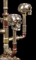 Kerzenhalter Totenköpfe - Steampunk Kandelaber