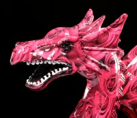 Bunte Drachen Figur mit Rosen - Romance Dragon