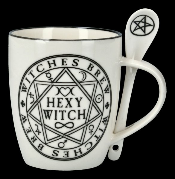 Mug with Spoon - Hexy Witch