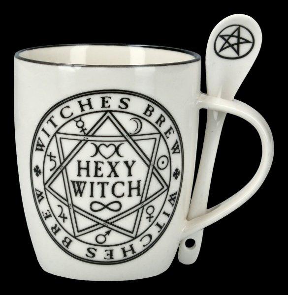 Tasse mit Löffel - Hexy Witch