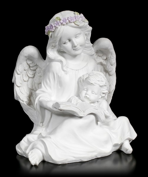 Angel Figurine with Child and Book