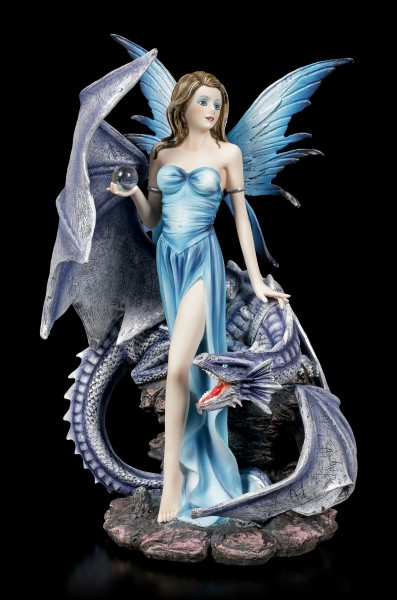 Fairy Figurine - Sidera with Dragon