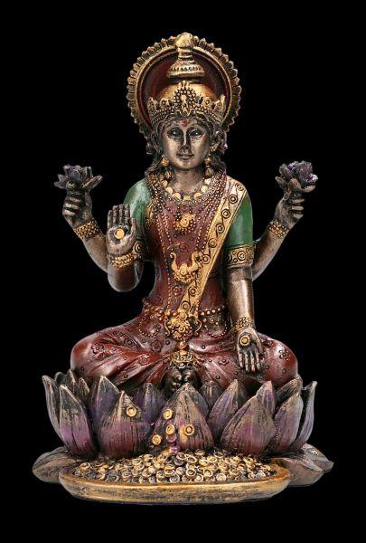Lakshmi Figur auf Lotusblüte klein
