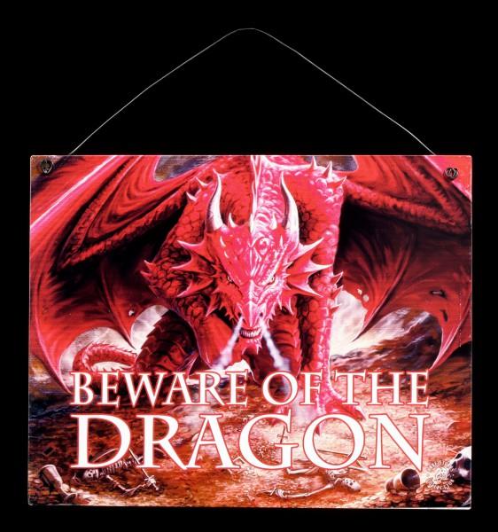 Dragon's Lair Metall Schild mit Drache - Beware of the dragon