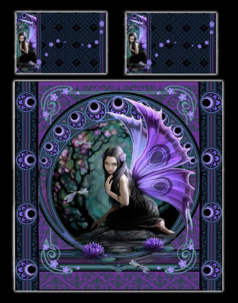 Fantasy Doppel-Bettwäsche Elfe - Naiad by Anne Stokes