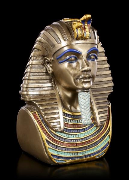 Tutanchamun Büste - bronziert