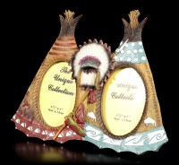 Wild West Picture Frame - Two Indian Tipis