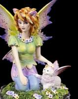Elfen Figur - Catfairy Felide mit kleiner Katze