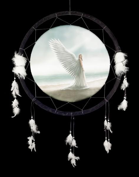 Großer Traumfänger mit Engel - Spirit Guide