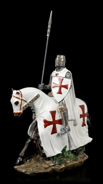 German Templar Knight Figurine on Horse