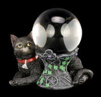 Witches Cat Crystall Ball Holder - Cosmo