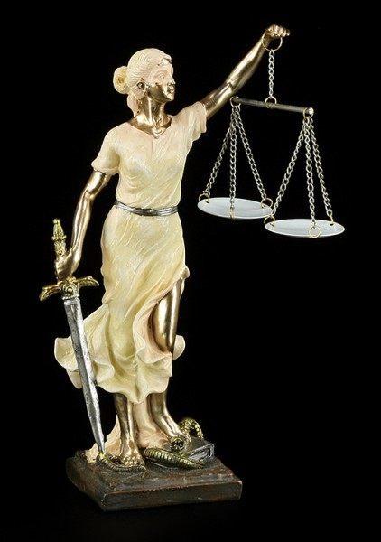 Justitia Figur - zweifarbig