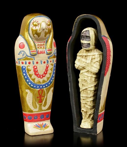 Horus Sarkophag mit Mumie