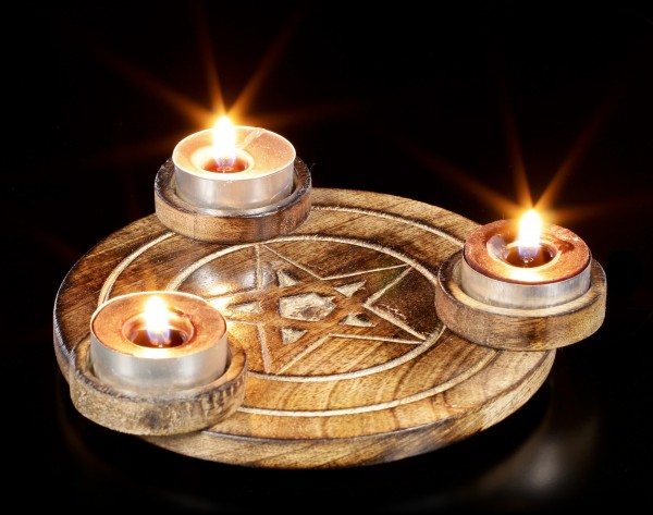 Tealight Holder - Pentagram
