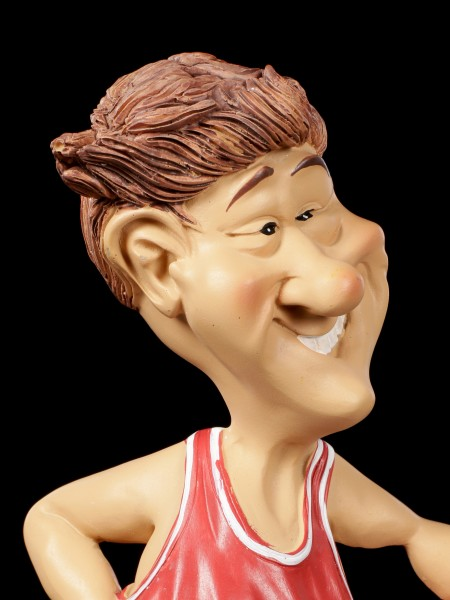 Funny Sports Figurine - Basketballer in red Jersey
