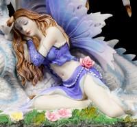 Elfen Figur - Myrha mit Drache