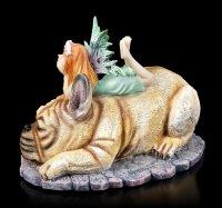 Elfen Figur auf Französischer Bulldogge - Canine Companion